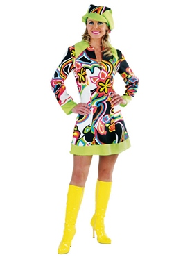 Adult 60's Liquid Design Gogo Costume
