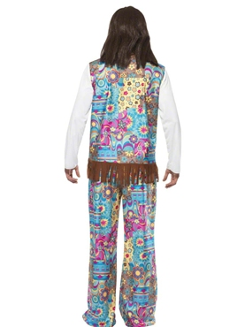 Adult 60 Mens Hippie Costume - Side View