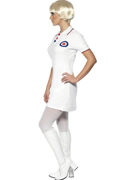 Adult 60's Mod Ladies Costume - Back View