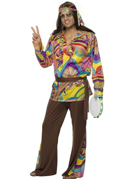 Adult 60's Psychedelic Hippy Costume