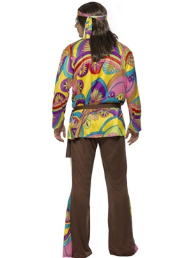 Adult 60's Psychedelic Hippy Costume - Side View