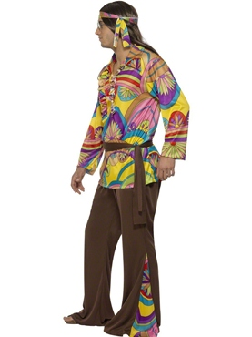 Adult 60's Psychedelic Hippy Costume - Back View