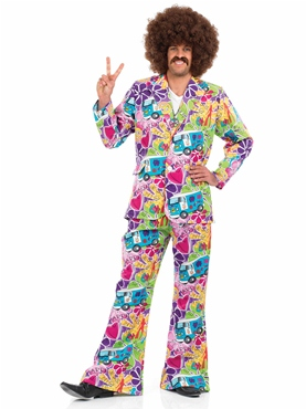 Adult 60's Psychedelic Suit Costume