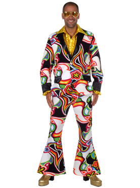 70s Mens Liquid Design Suit