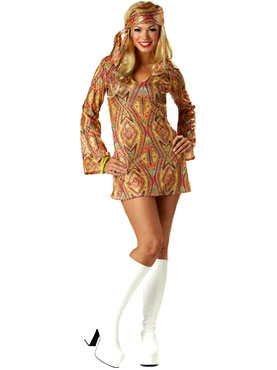 Adult 70s Disco Dolly Costume