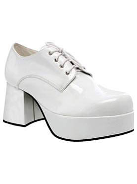 Adult Male White 70's Disco Shoes