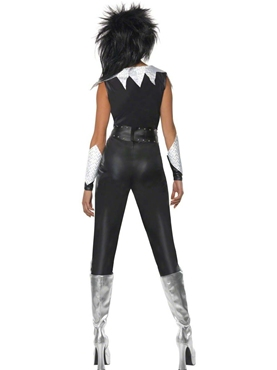 Adult 70's Glam Rock Chick Costume - Side View