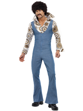 Adult 70's Groovy Disco Dancer Costume Couples Costume