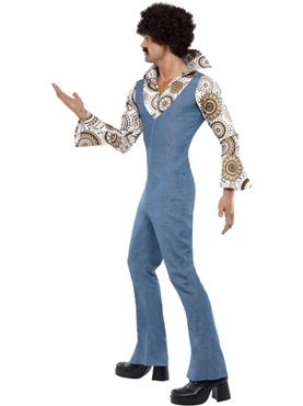 Adult 70's Groovy Disco Dancer Costume - Back View