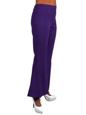 Adult Deluxe Ladies Purple Flared Trousers
