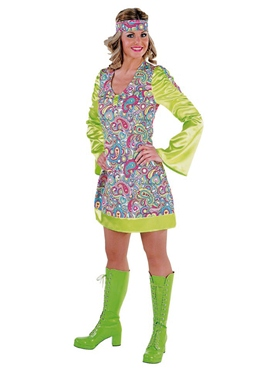 Adult 70s Ladies Happy Costume
