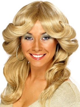 70s Layered Flick Wig Blonde