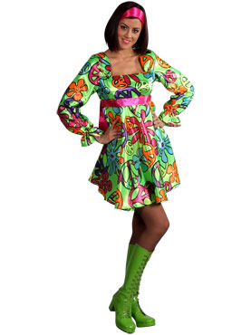 Adult 70s Magic Girl Dress Costume