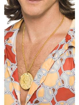 70's Medallion Gold Metal