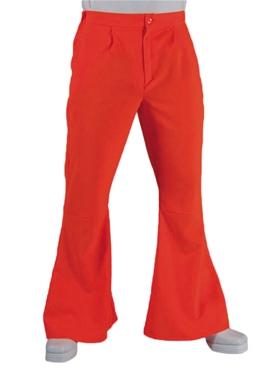 Adult 70's Mens Orange Flared Trousers