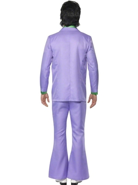 Adult 70's Mens Lavender Suit Costume - Side View
