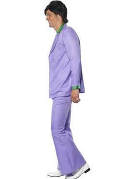 Adult 70's Mens Lavender Suit Costume - Back View