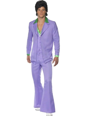 Adult 70's Mens Lavender Suit Costume