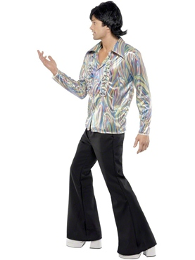 Adult 70's Mens Retro Costume - Side View