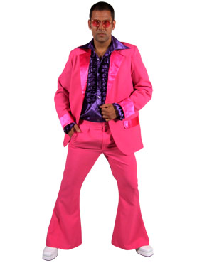 Adult 70's Mens Pink Suit
