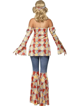 Adult 70's Vintage Hippy Costume - Side View