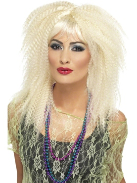 80's Blonde Crimp Wig