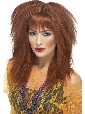 80s Brown Crimp Wig
