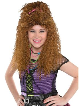 80's Brown Crimp Wig