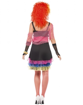 Adult 80s Fun Girl Costume - Side View