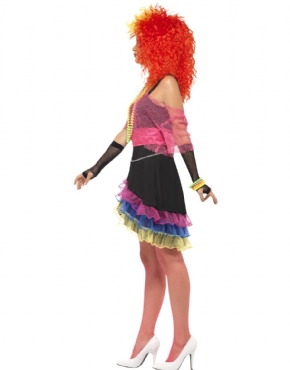 Adult 80s Fun Girl Costume - Back View