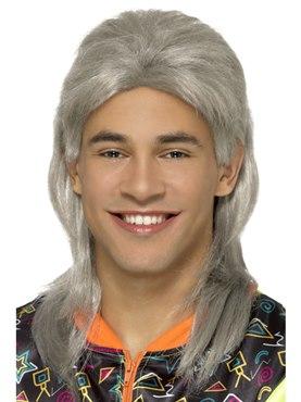 80's Grey Mullet Wig
