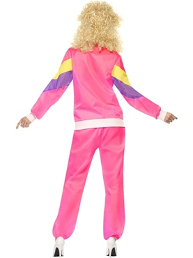 Adult 80's Height of Fashion Shell Suit Costume - Side View