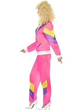 Adult 80's Height of Fashion Shell Suit Costume - Back View