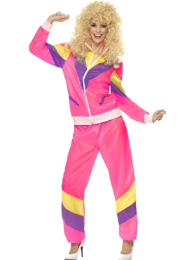 Adult 80's Height of Fashion Shell Suit Costume Thumbnail