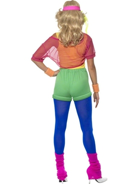 Adult 80's Let's Get Physical Girl Costume - Side View