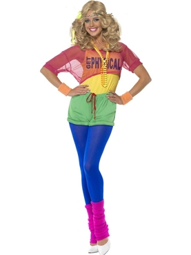 Adult 80's Let's Get Physical Girl Costume Thumbnail