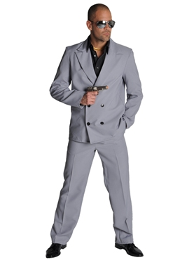 Deluxe 80's Miami Vice Grey Suit
