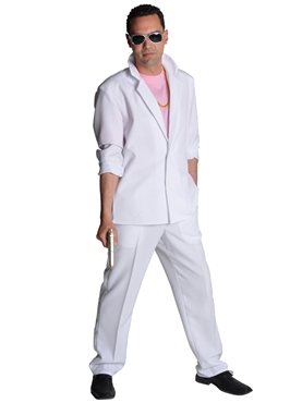 Deluxe Miami Vice 'Sonny Crockett' White Suit Thumbnail