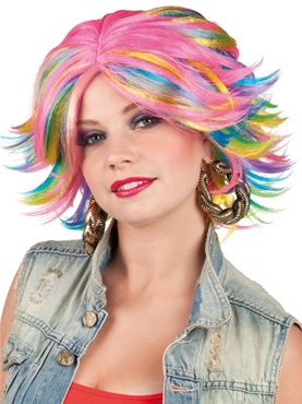 80's Multicoloured Wig