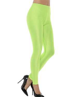 80's Neon Green Disco Leggings