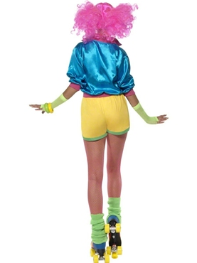 Adult 80's Neon Skater Girl Costume - Side View