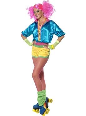 Adult 80's Neon Skater Girl Costume
