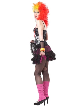 Adult 80's Party Girl Costume - Side View