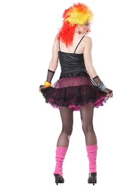 Adult 80's Party Girl Costume - Back View