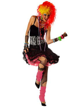 Adult 80's Party Girl Costume