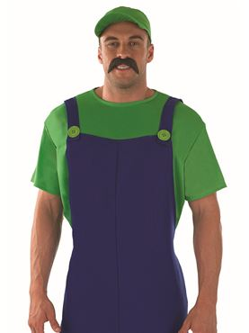 Adult 80's Plumbers Mate Green Costume - Back View