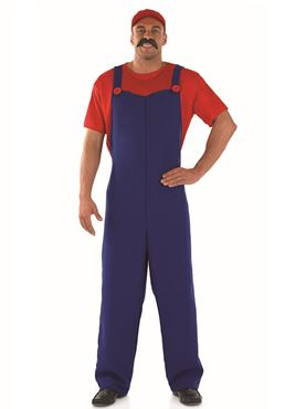 Adult 80's Plumbers Mate Red Costume Thumbnail