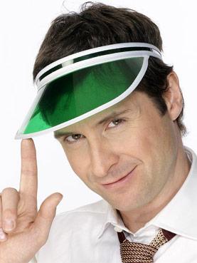 80's Poker Visor Green