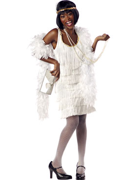 Fashion Flapper Costume White