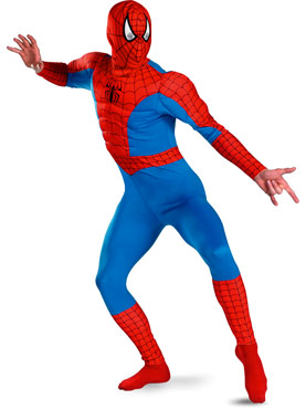 Spiderman Costume Muscle Chest
